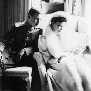 Grand Duke Dmitri Pavlovich, Tsar Nicholas II's cousin, with Grand Duchess Elizabeth Feodorovna, Tsarina Alexandra's sister.