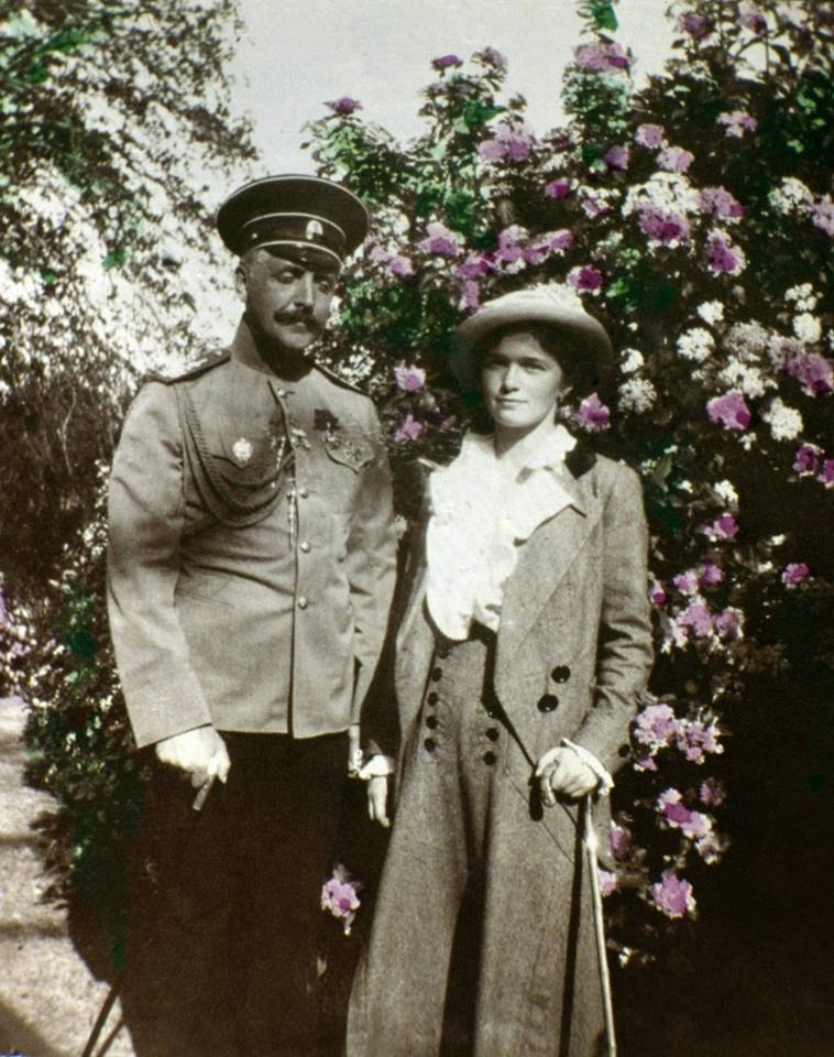 Grand Duchess Olga Romanov with Nikolai Sablin