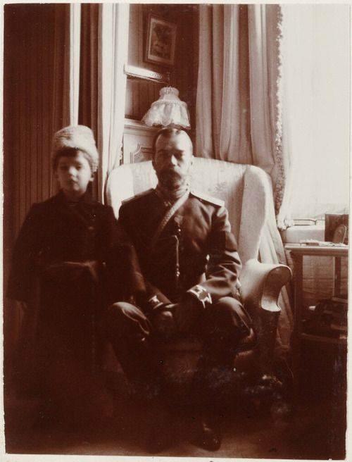 Tsar Nicholas II and Tsesarevich Alexei