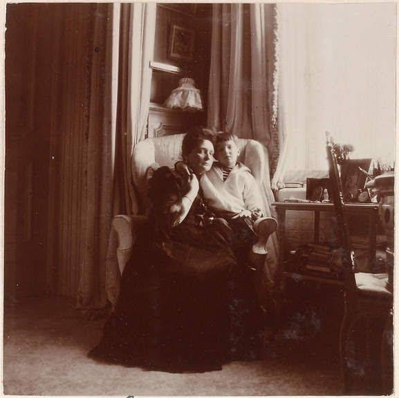 Tsarina Alexandra and Tsesarevich Alexei