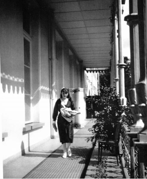 Grand Duchess Anastasia on the Alexander Palace balcony