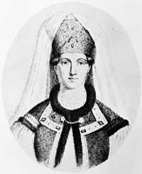 Elena Glinskaya, Ivan's mother.