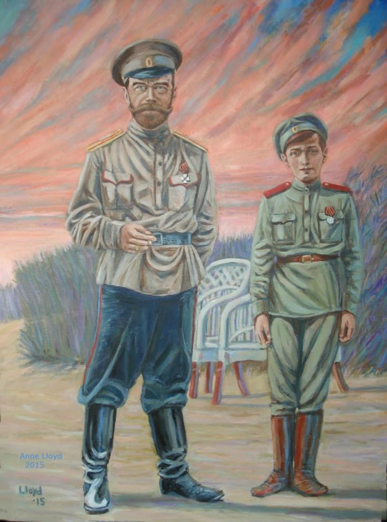 Tsar Nicholas II and Tsesarevich Alexei Nikolaevich