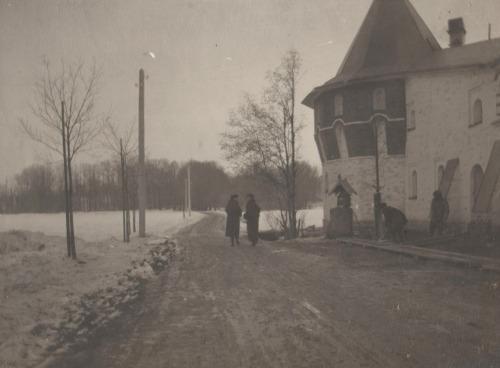 The grand duchesses in the Gorodok, near their infirmary.