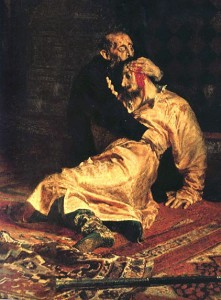 Ivan killed his only son and heir, also named Ivan, reportedly accidentally.