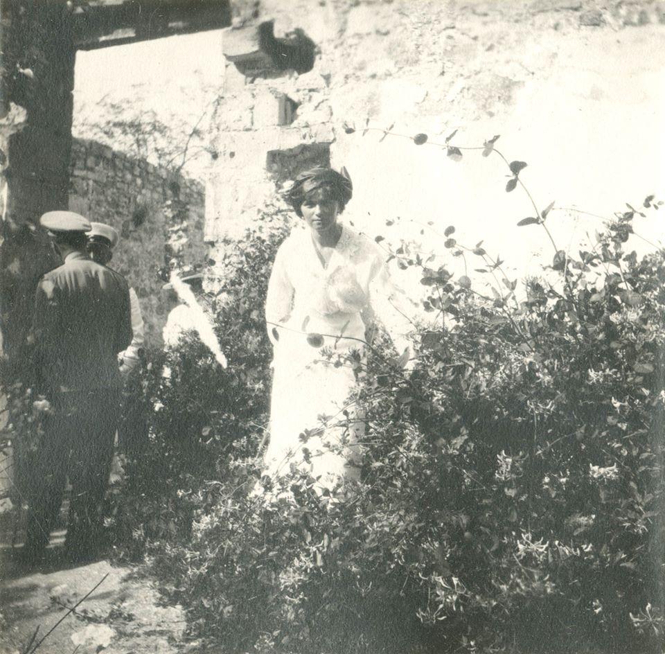Grand Duchess Olga Nikolaevna in Oreanda, Crimea. Photo credit: ГА РФ, ф. 640 оп. 3 д. 25 л. 47 фото 689