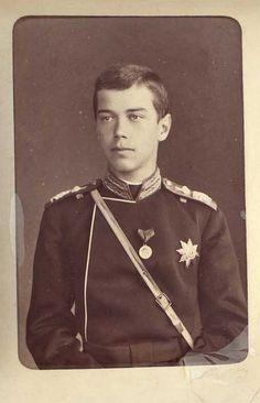 Young Nicholas II as Tsesarevich of Russia