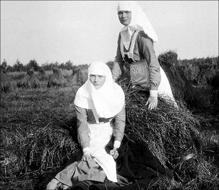 Sisters of Mercy Olga Romanov and Tatiana Romanov.