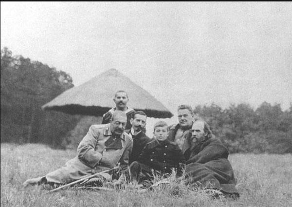 Tsarevich Alexei with his tutors