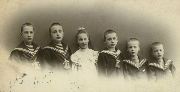 Princess Tatiana Konstantinovna with her brothers