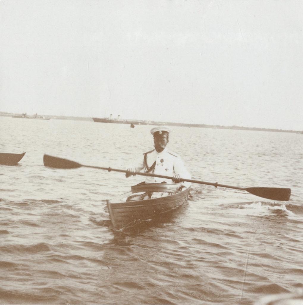 Tsar Nicholas II in a kayak