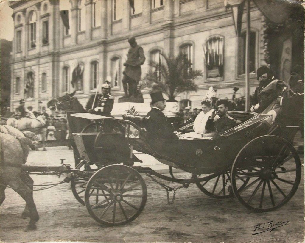 1896 Romanov family visit to Paris.