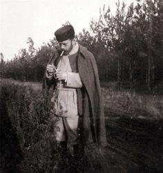 Nicholas II lighting up his cigarette