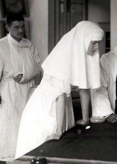 Sister of Mercy Tatiana Romanov at the infirmary.