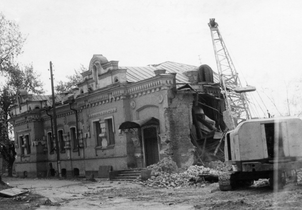 The Ipatiev house, the last residence of the Romanov family was demolished in the 1970's.