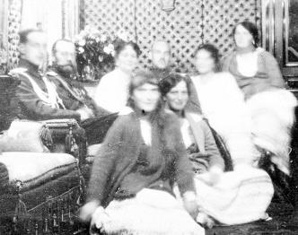 Romanov family with Grand Duke Michael Alexandrovich.