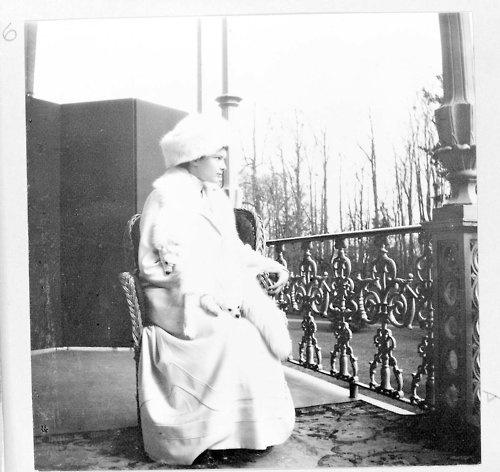 Grand Duchess Tatiana Romanov posing on the Alexander Palace balcony