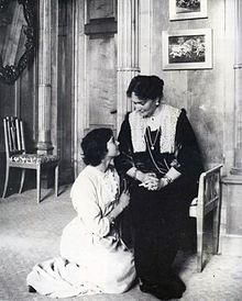Grand Duchess Tatiana with her mother Empress Alexandra.