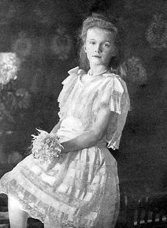 Grand Duchess Olga Romanov circa 1906.