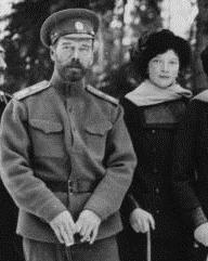 Grand Duchess Tatiana Romanov with her father Nicholas II