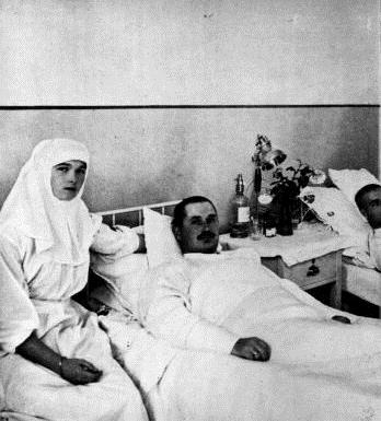 Sister Olga Romanov at her infirmary