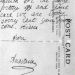 ANASTASIA ROMANOV: 1914 POSTCARD TO HER HESSIAN AUNT (RARE)