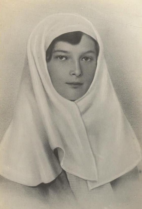 Sister of Mercy Tatiana Romanov circa 1915